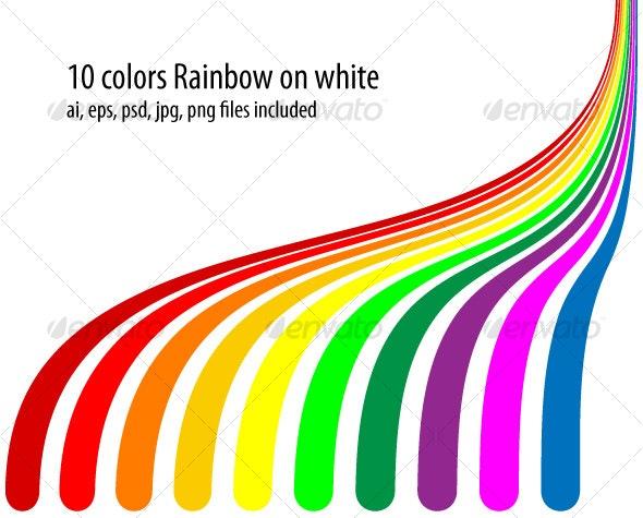 10 colors rainbow - Backgrounds Decorative
