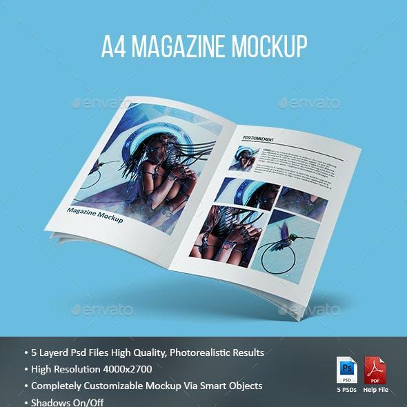 A4 Magazine Mockup