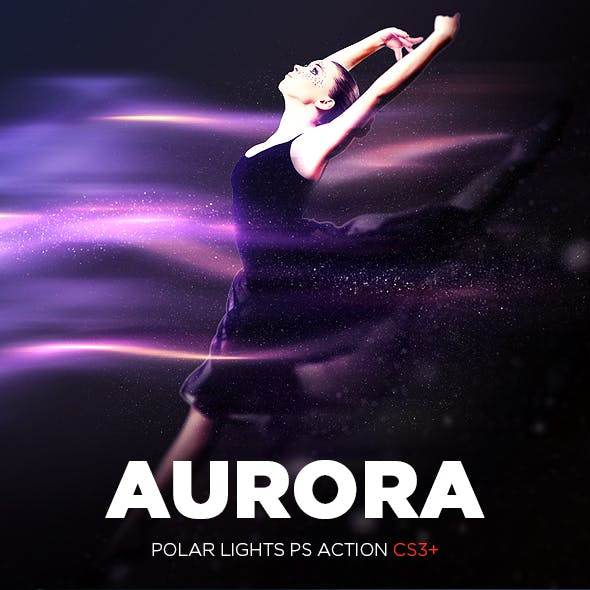 Aurora - Polar Lights Photoshop Action CS3+