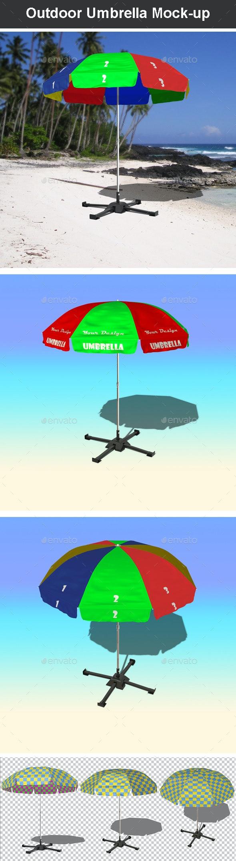 Outdoor Umbrella Mock-up - Miscellaneous Product Mock-Ups