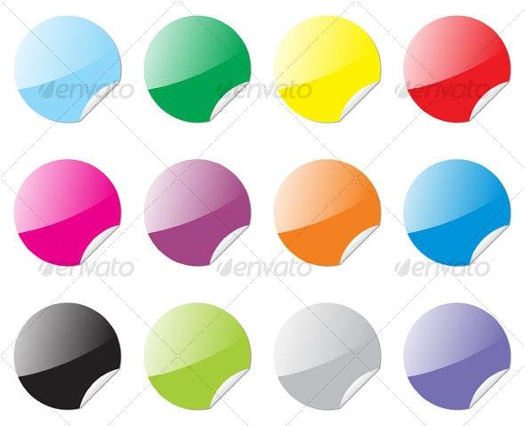 round stickers - Web Technology
