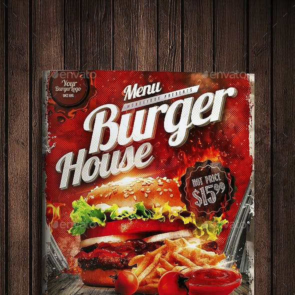 Burger House Menu