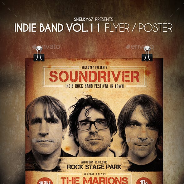 Indie Band Flyer / Poster Vol 11