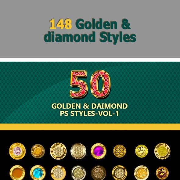 148 Golden & Diamond Styles Bundle