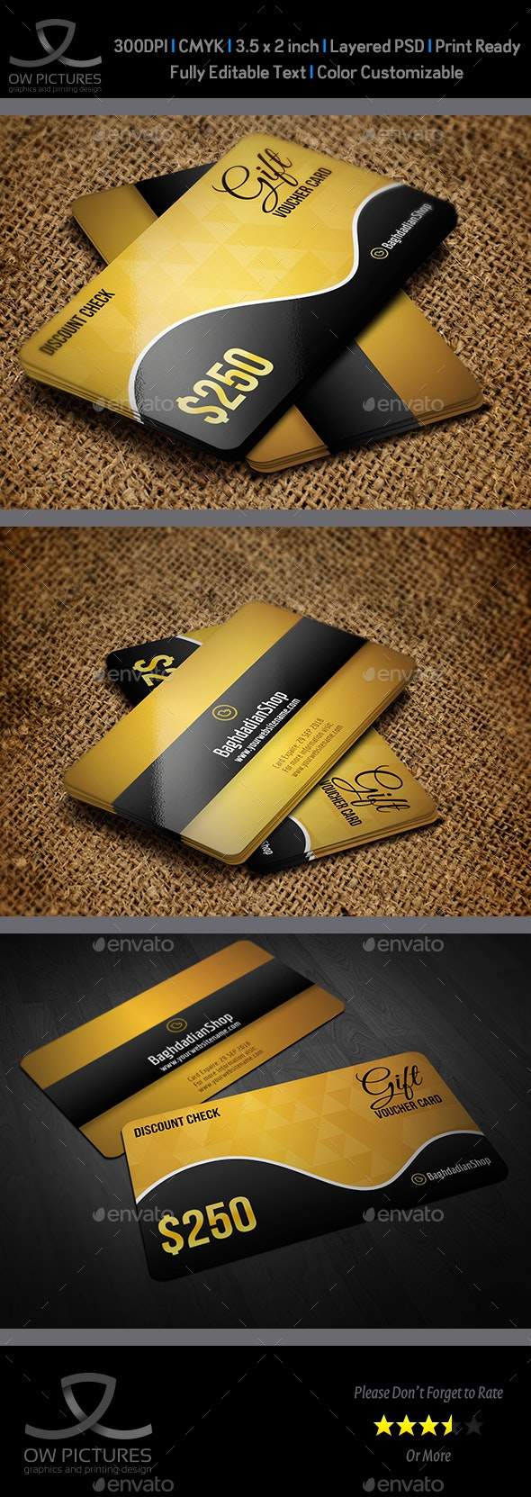 Gift Voucher Card Template Vol 22 - Cards & Invites Print Templates