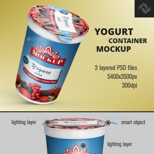 Cream Yogurt Container Mockup