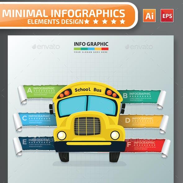 Minimal School Bus infographic Design