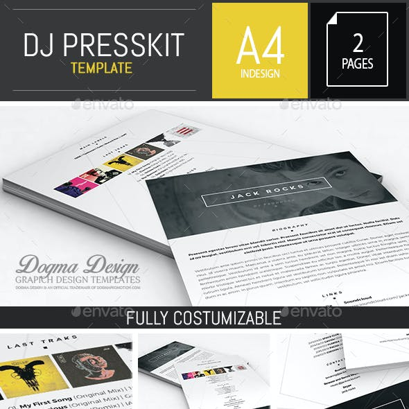 Musician / Dj Press Kit / Resume InDesign Template