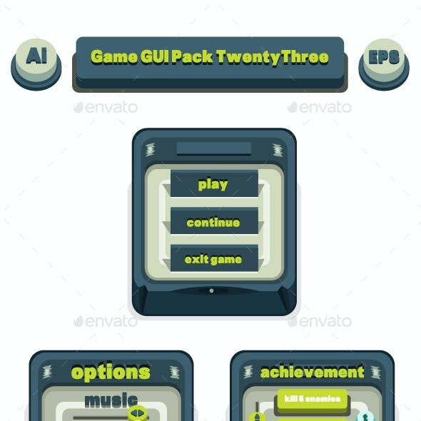 Game GUI Pack TwentyThree