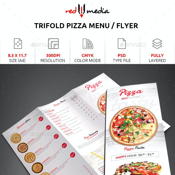 Trifold Pizza Menu / Flyer