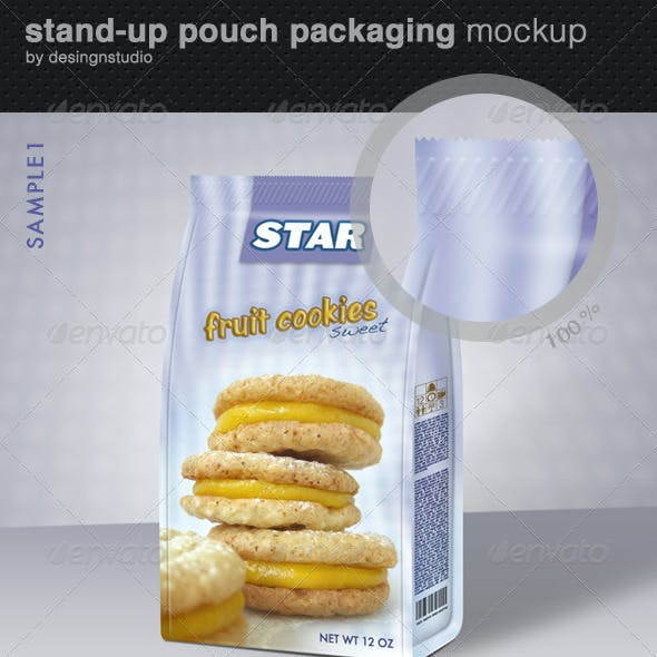 Stand-Up Pouch Packaging Mock-Up