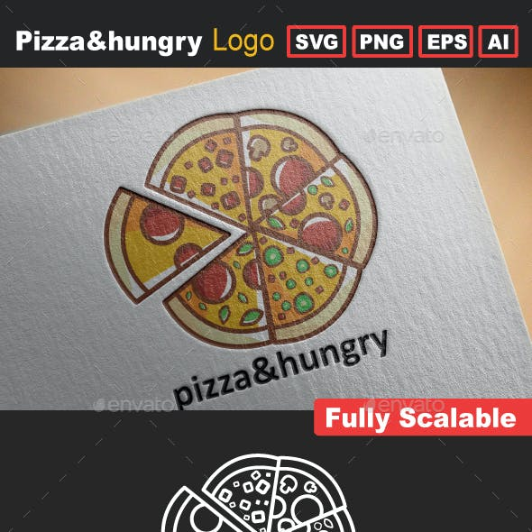Pizza&Hungry Logo Template