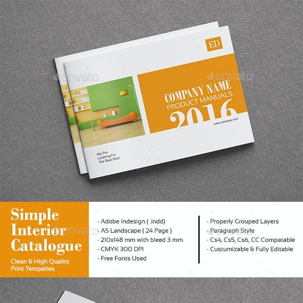 Simple Interior Catalogue