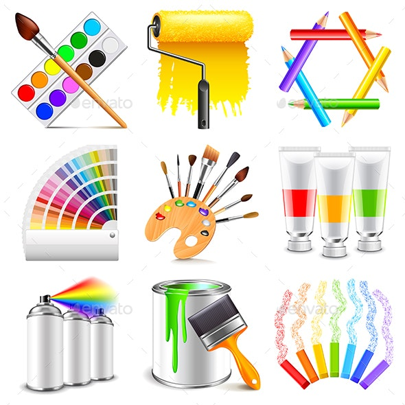 Design and Art Icons Set - Abstract Conceptual