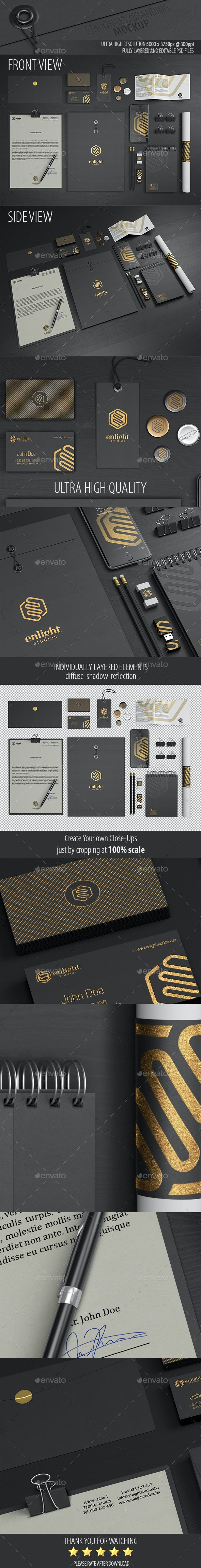Stationery / Branding Mockup - Product Mock-Ups Graphics