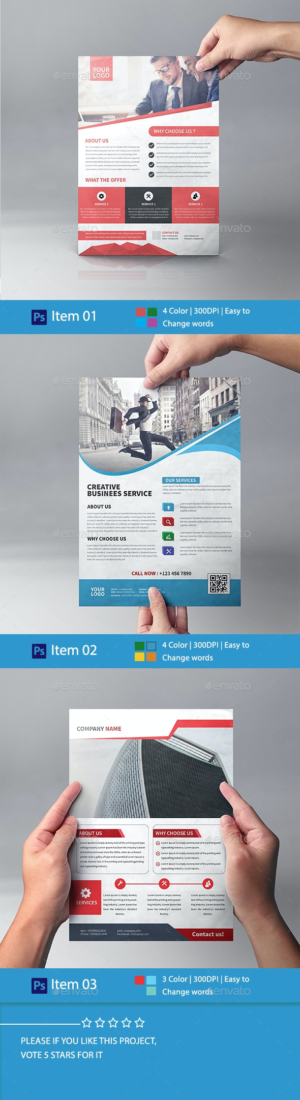 Corporate Business Flyer Bundle 01 - Corporate Flyers