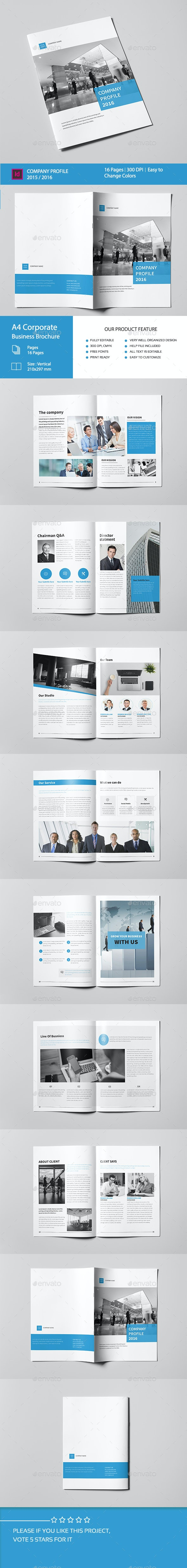 Corporate Business Brochure 16 Pages A4 - Corporate Brochures