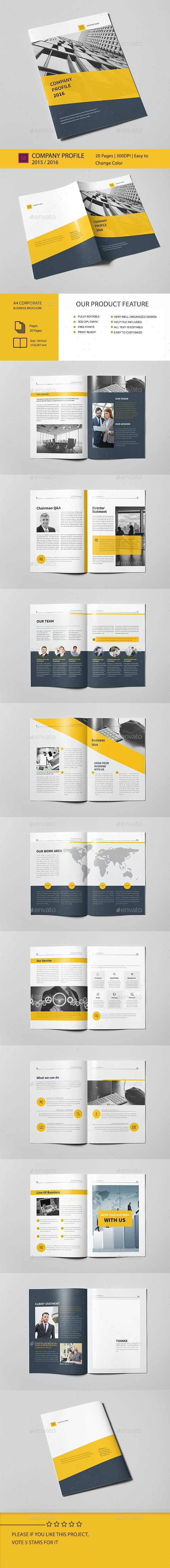 Corporate Business Brochure 20 Pages A4 - Corporate Brochures