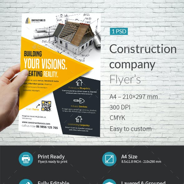Construction Company Flyer Template
