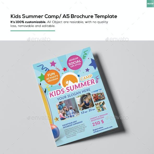 Kids Summer Camp/ A5 Brochure Template