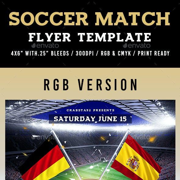 Soccer Match Flyer Template