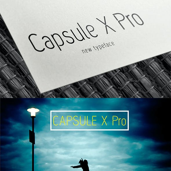 Capsule X Pro Font - Regular