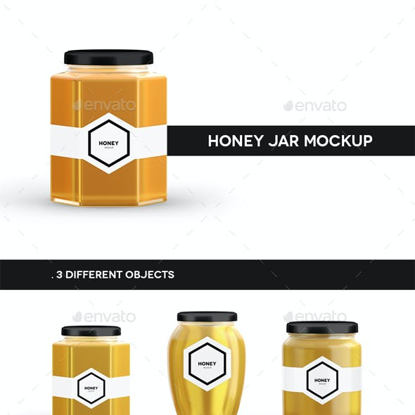 Honey Jar Mockup