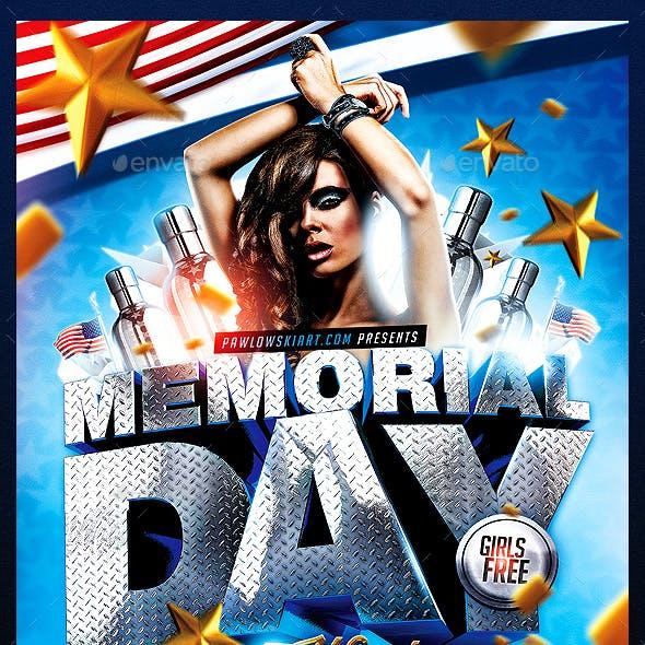 Memorial Day Weekend PSD Flyer Template