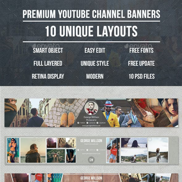 Premium 10 Youtube Banners