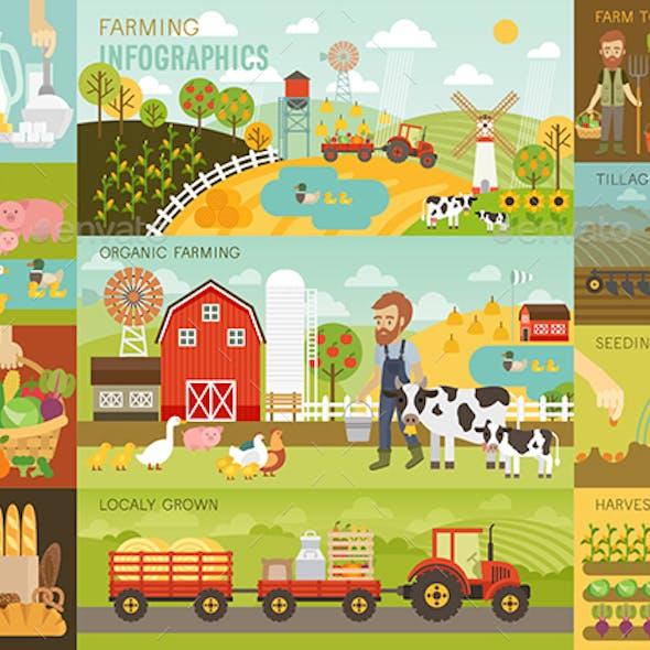 Farming Infographic Set