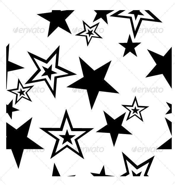 Seamless star ornament  in color 39 - Backgrounds Decorative