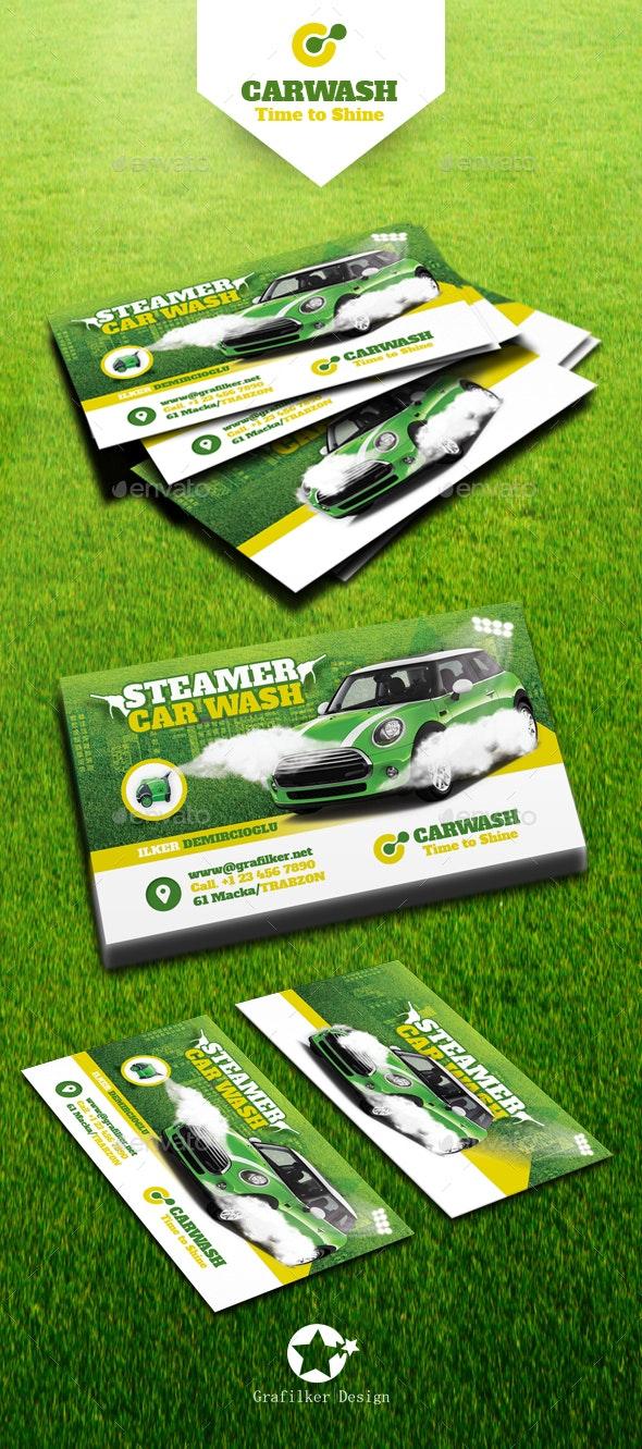 Car Wash Business Card Templates - Business Cards Print Templates