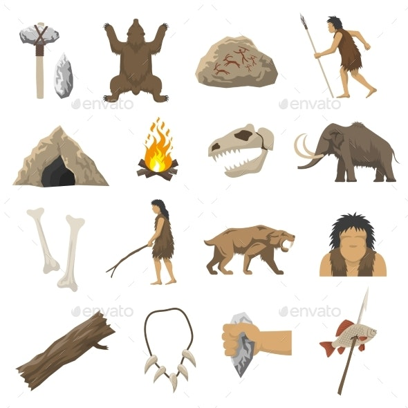 Stone Age Icons - Miscellaneous Icons