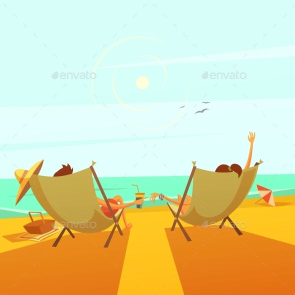 Beach Rest Illustration