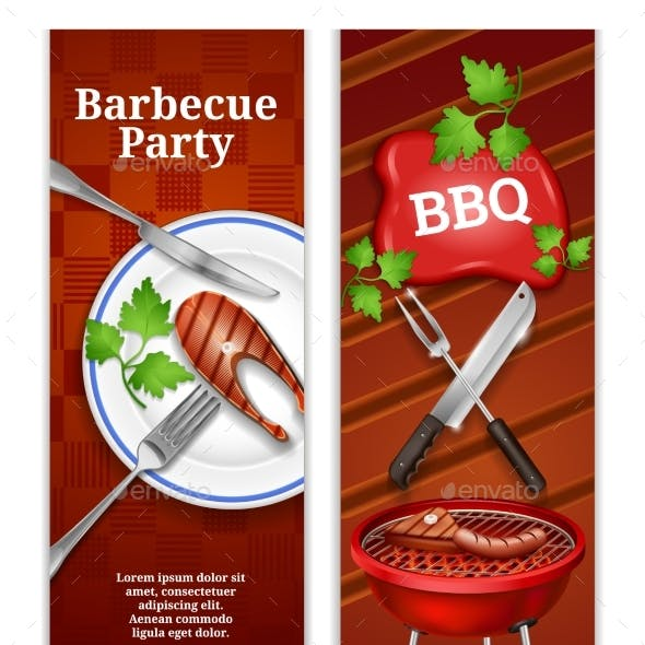 Barbecue Vertical Banners