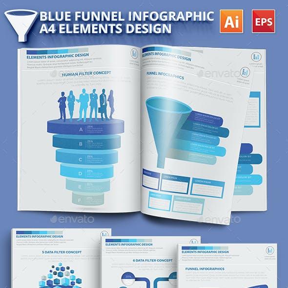 Blue Filter Funnel Infographic Design