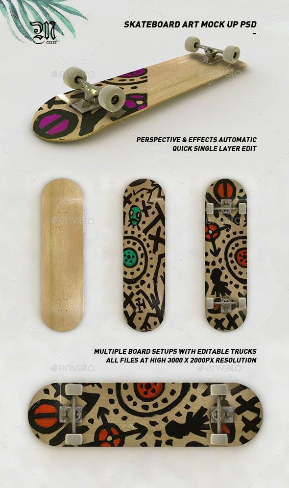 Skateboard Art Mock-Up PSD - Miscellaneous Product Mock-Ups