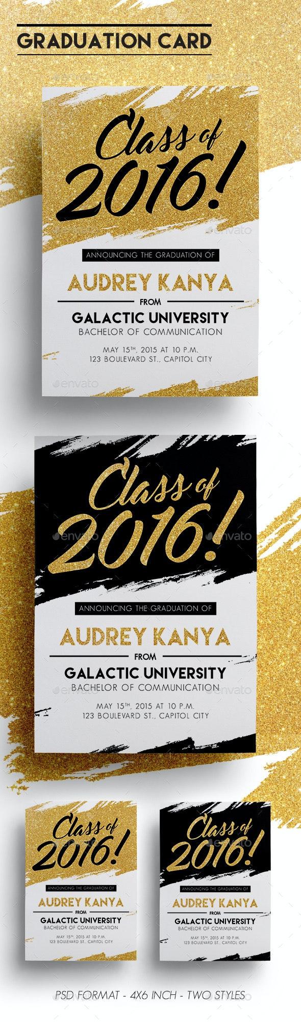 Graduation Card - Cards & Invites Print Templates