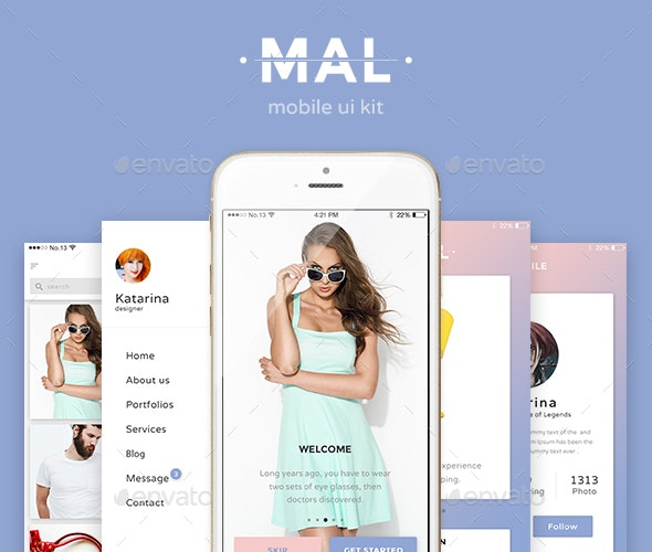 Mal Mobile UI KIT  - User Interfaces Web Elements
