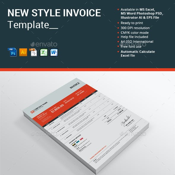 New Style Invoice Template