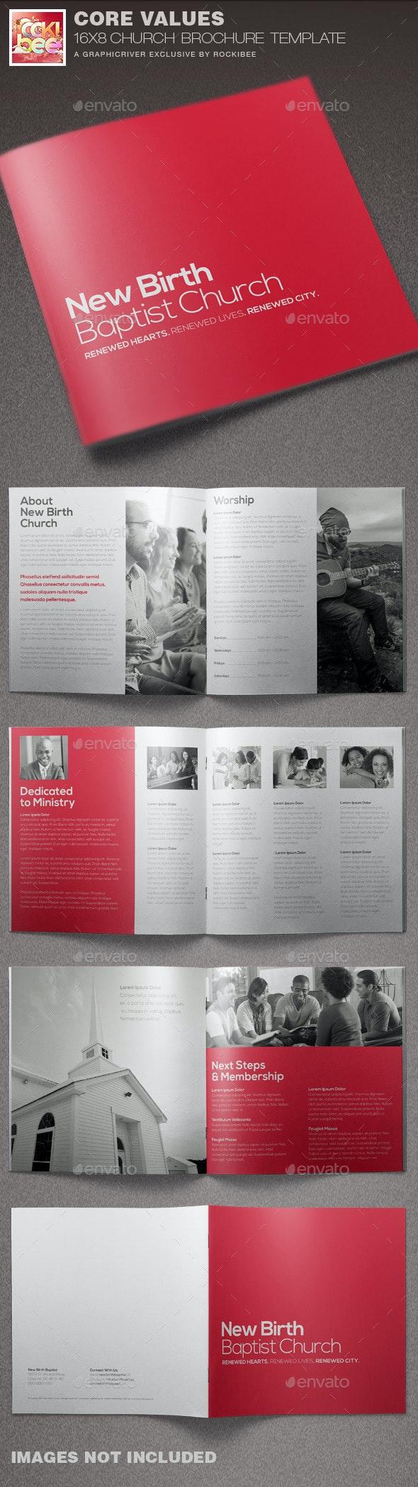 Core Values Church Brochure Template - Informational Brochures