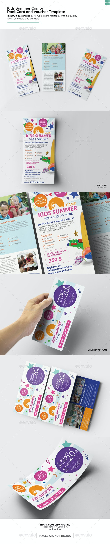 Kids Summer Camp/ Rack Card and Voucher Template - Miscellaneous Print Templates