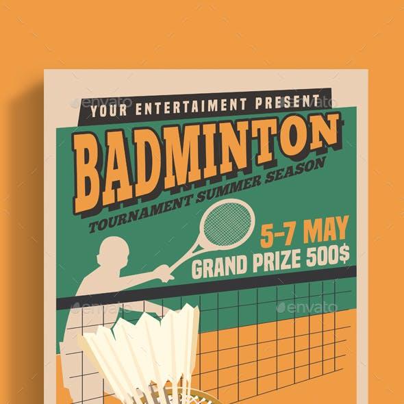Badminton Tournament Vintage Style