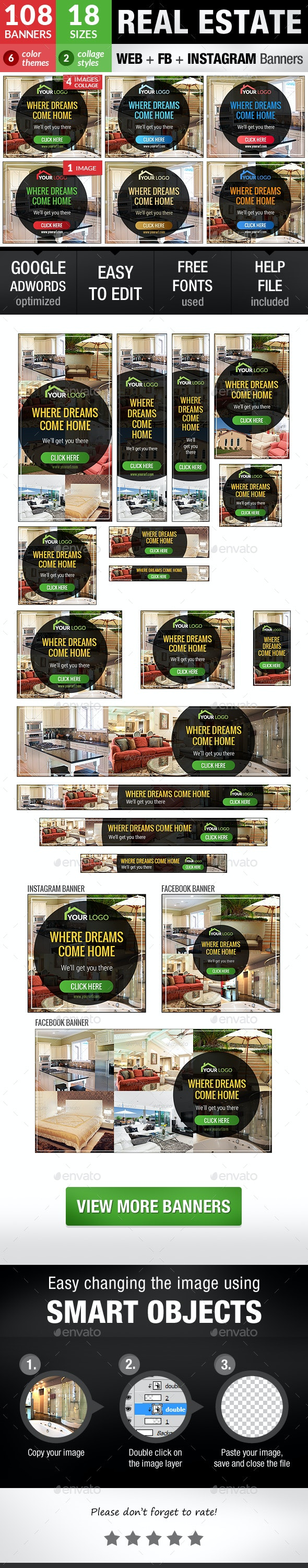 Real Estate - Banners & Ads Web Elements