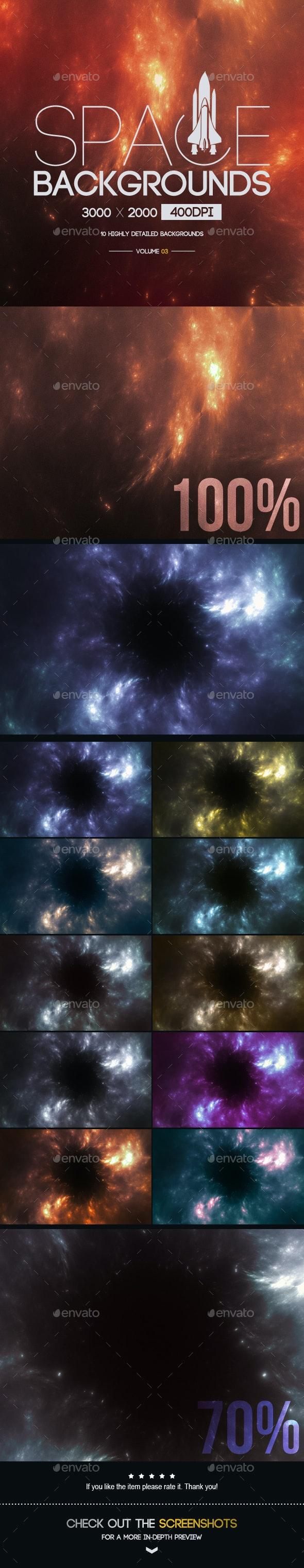 Space Backgrounds [Vol.3] - Tech / Futuristic Backgrounds