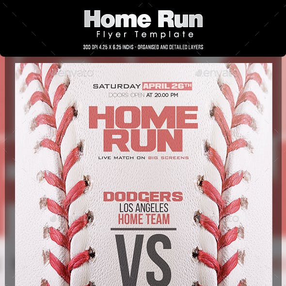 Home Run Flyer Template