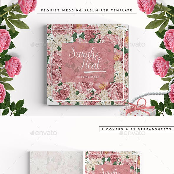 Peonies Wedding Photobook