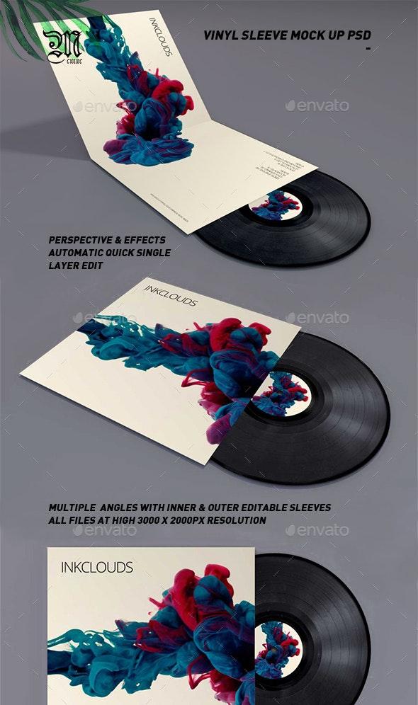 Double Sleeve Vinyl Mock-Up PSD - Miscellaneous Print