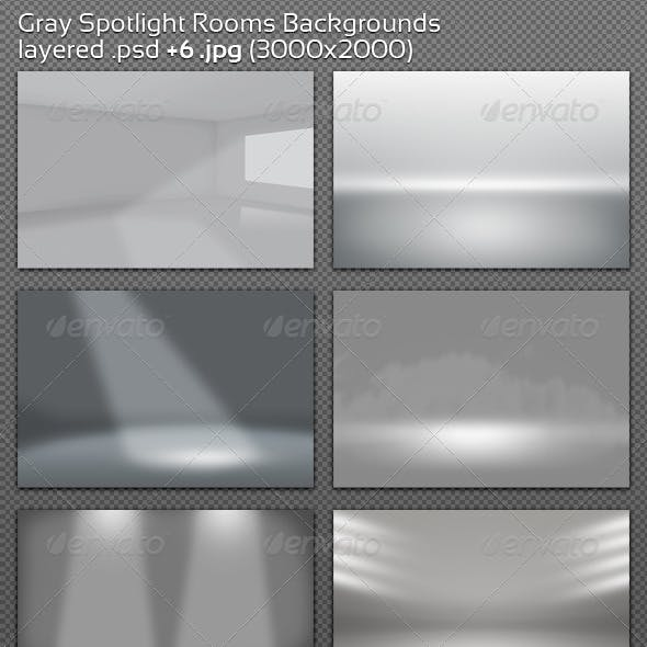 Gray Spotlight Rooms Backgrounds