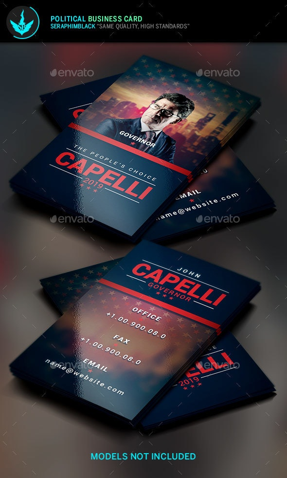 Political Election Business Card Template  - Corporate Business Cards